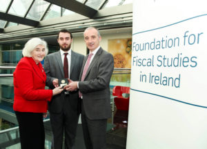 Pic shows l-r Miriam Hederman O' Brien, Gerard Brady (Winner) and Colm Kelly.